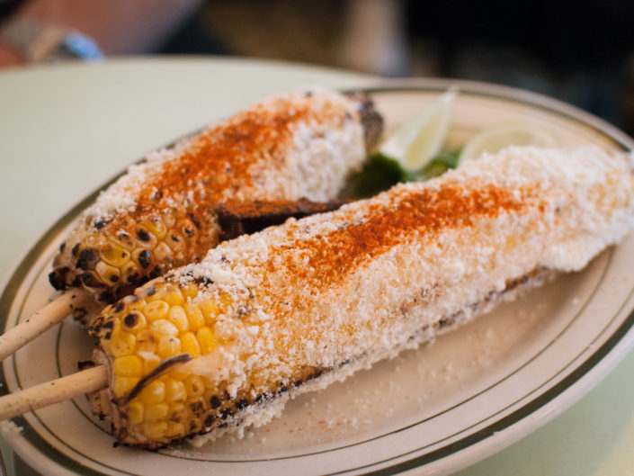 Grilled corn from Cafe Habana