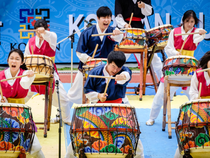 Korean drumming performance