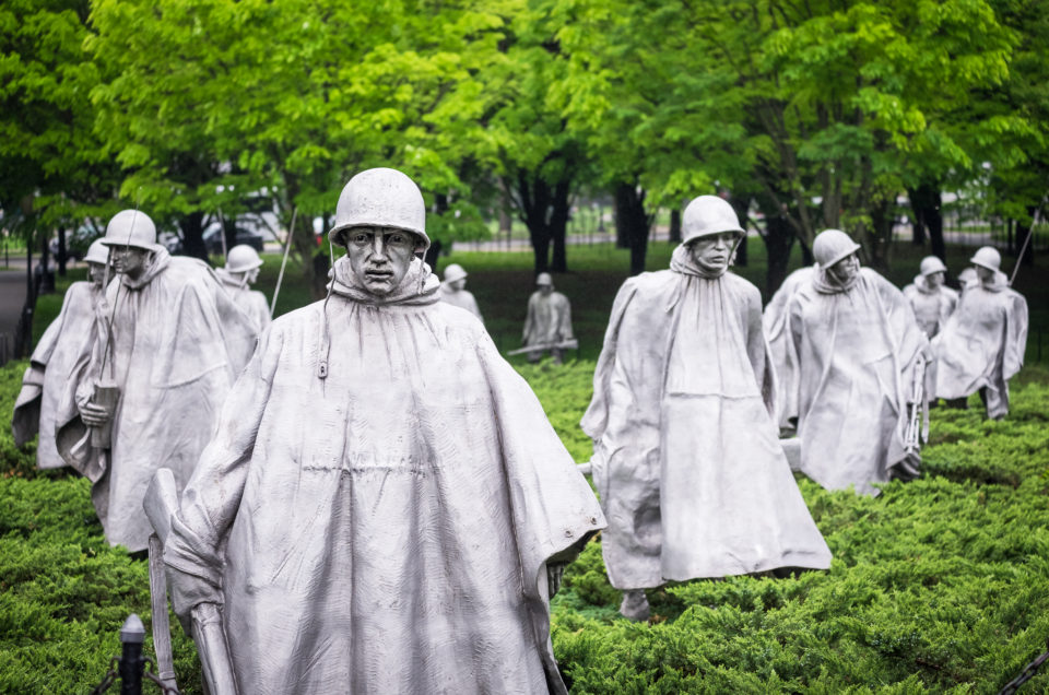 Korean War Memorial in D.C.